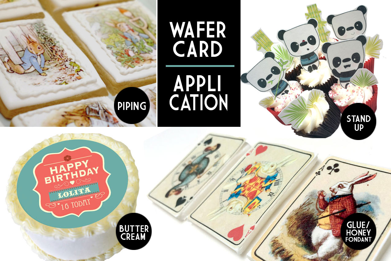 wafer card how to aplly to your cake and cupcake