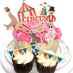 Circus Cupcake Stand Up Decorations