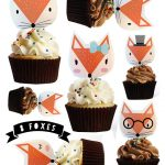 Fox Stand Up cake | cupcake toppers