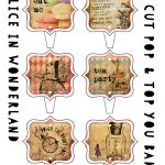Alice in Wonderland Stand Up cake   cupcake toppers