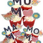 Mum, Mam or Mom | Fox cupcake toppers