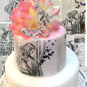 alice-in-wonderand-edible-newspaper-print-cake-and-cupcake-decorations-top my bake