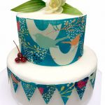 Bird Decor Bunting & cake border set