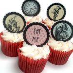 Alice in Wonderland 2″ Edible discs x 10